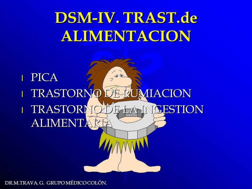 DR.M.TRAVA.G. GRUPO MÉDICO COLÓN. DSM-IV.