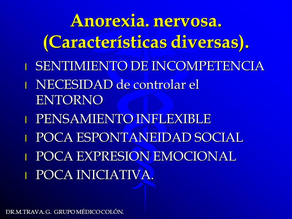 DR.M.TRAVA.G. GRUPO MÉDICO COLÓN. Anorexia. nervosa.