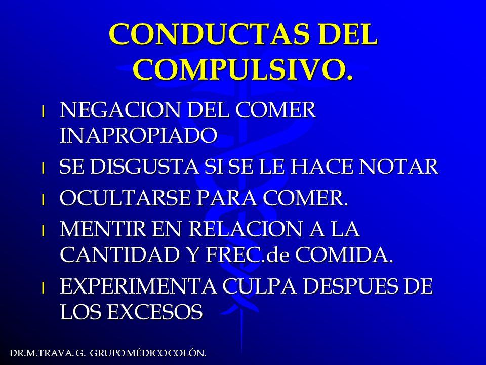 DR.M.TRAVA.G. GRUPO MÉDICO COLÓN. CONDUCTAS DEL COMPULSIVO.