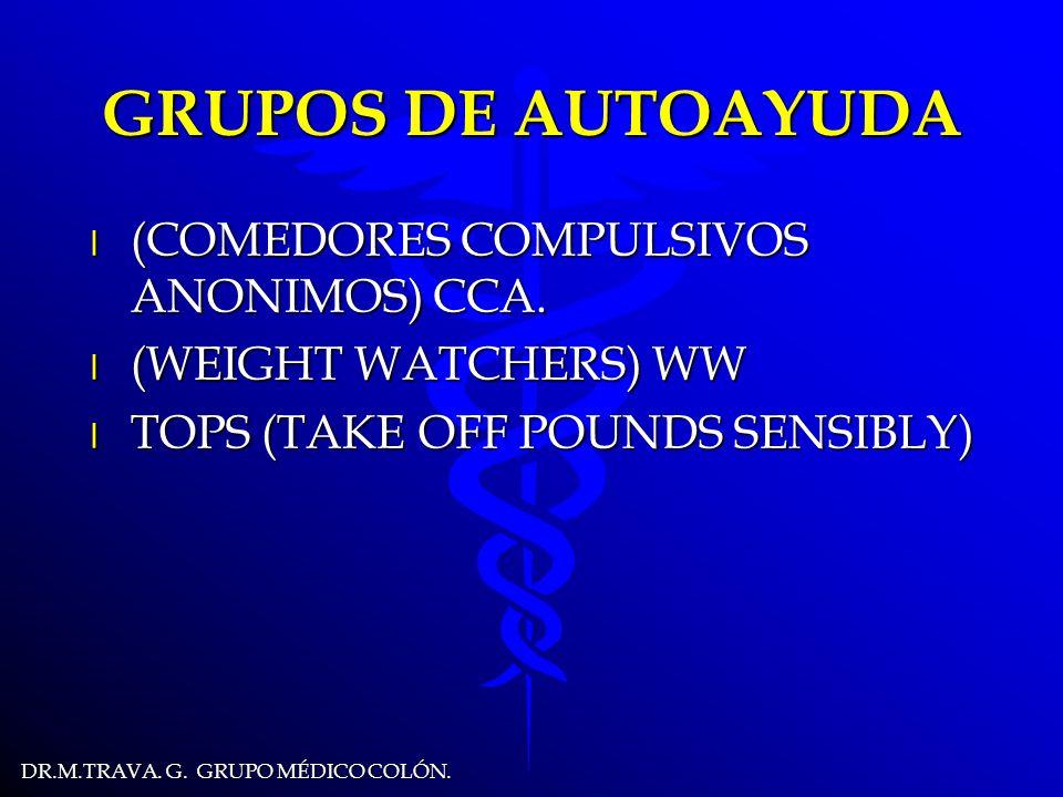 DR.M.TRAVA.G. GRUPO MÉDICO COLÓN. GRUPOS DE AUTOAYUDA l (COMEDORES COMPULSIVOS ANONIMOS) CCA.