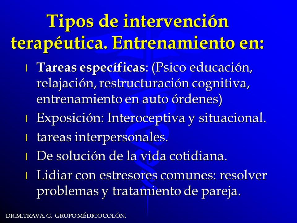 DR.M.TRAVA.G. GRUPO MÉDICO COLÓN. Tipos de intervención terapéutica.