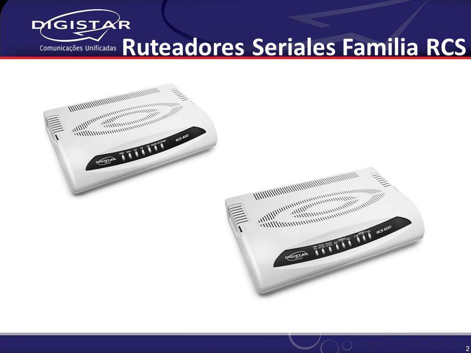2 Ruteadores Seriales Familia RCS