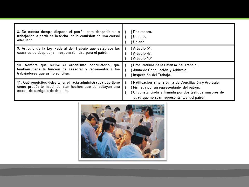 BREVE EVALUACION DE CONOCIMIENTOS JURIDICO LABORALES ( 2 ).