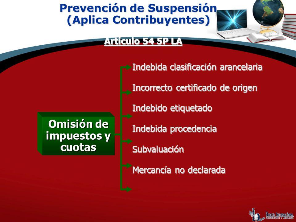Indebida clasificación arancelaria Incorrecto certificado de origen Indebido etiquetado Indebida procedencia Subvaluación Mercancía no declarada Preve
