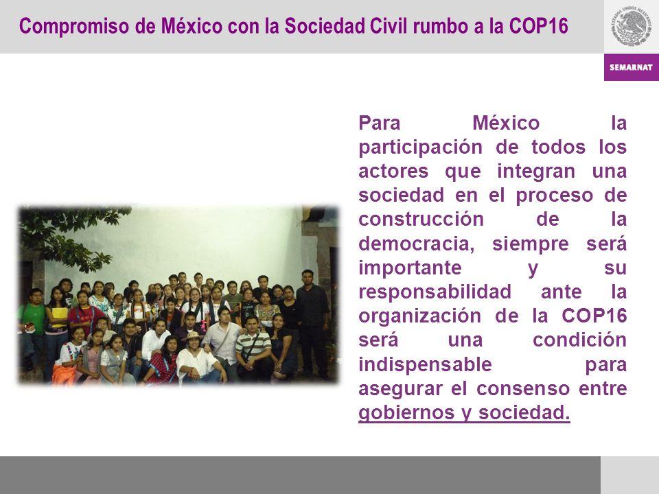 Para México la participación de todos los actores que integran una sociedad en el proceso de construcción de la democracia, siempre será importante y