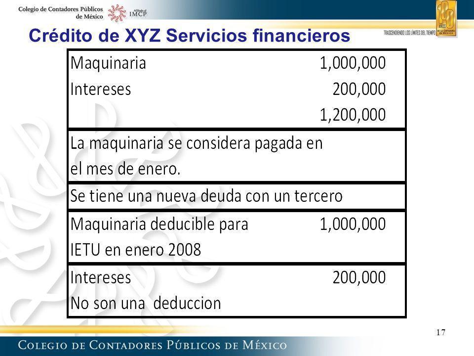 Crédito de XYZ Servicios financieros 17
