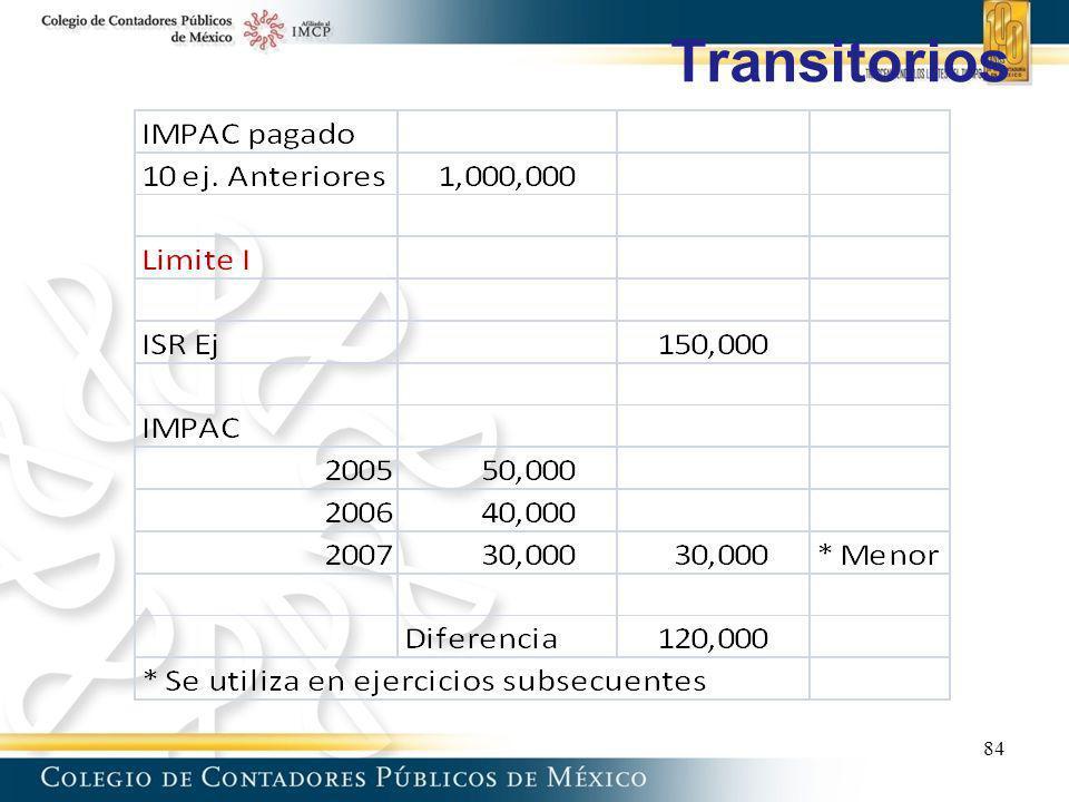 Transitorios 84