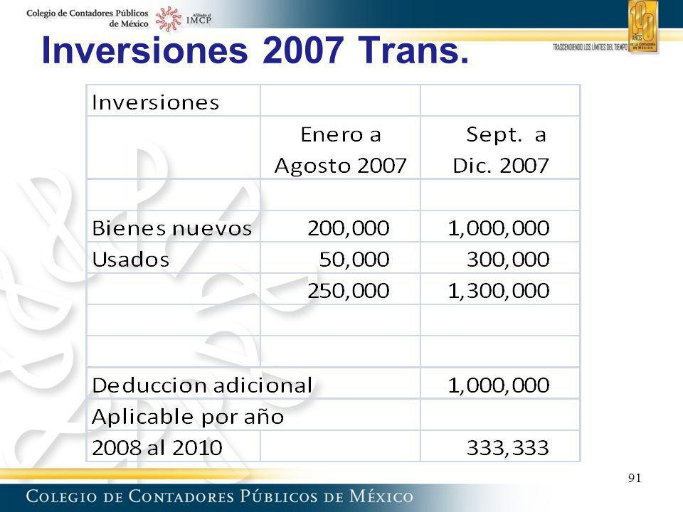 Inversiones 2007 Trans. 91