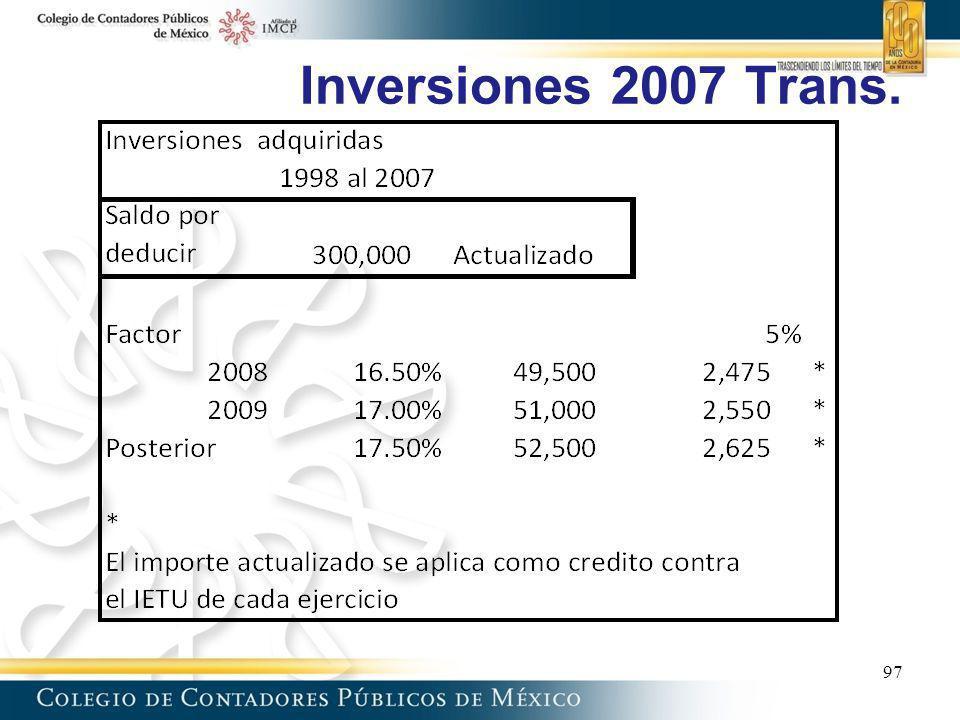Inversiones 2007 Trans. 97