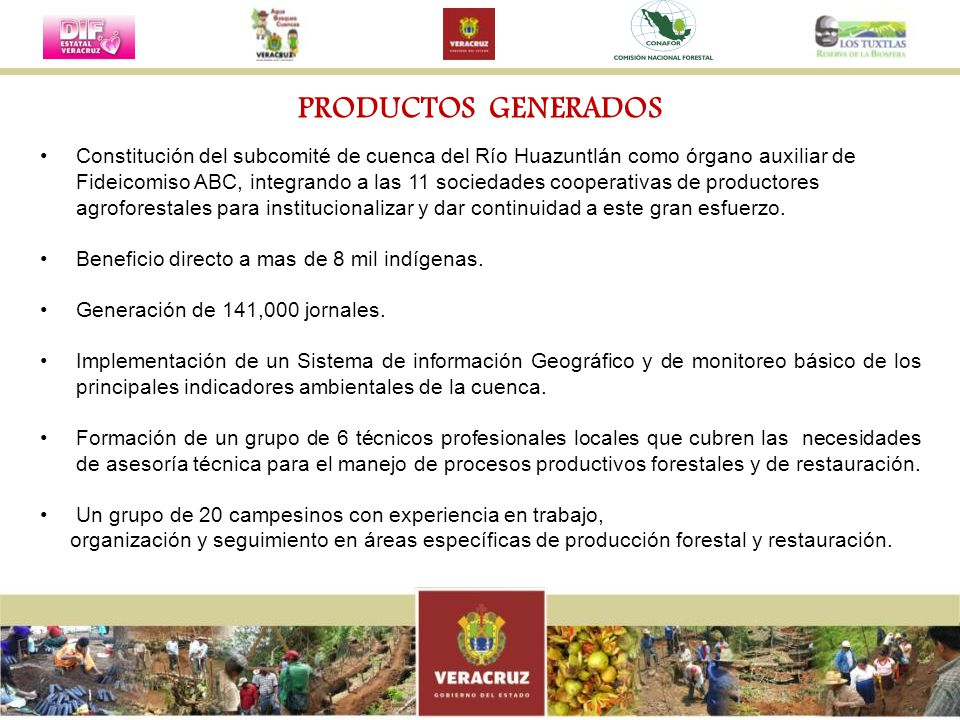 Constitución del subcomité de cuenca del Río Huazuntlán como órgano auxiliar de Fideicomiso ABC, integrando a las 11 sociedades cooperativas de produc