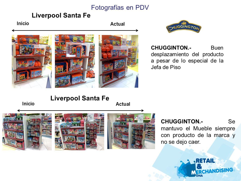 CHUGGINTON.- Buen desplazamiento del producto a pesar de lo especial de la Jefa de Piso Liverpool Santa Fe Inicio Actual Liverpool Santa Fe Inicio Act