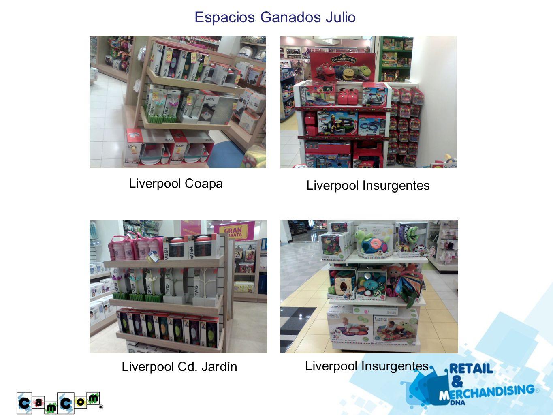 Espacios Ganados Julio Liverpool Coapa Liverpool Insurgentes Liverpool Cd. Jardín