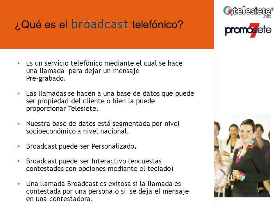 Es un servicio telefónico mediante el cual se hace una llamada para dejar un mensaje Pre-grabado.