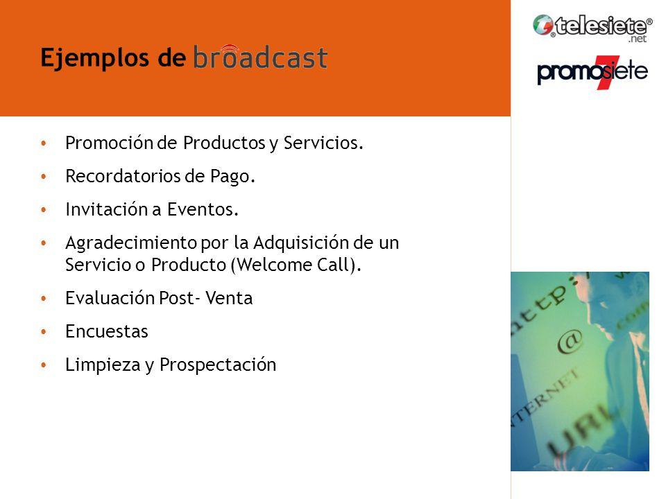 ¿Qué es broadcast telefónico.Promoción de Productos y Servicios.