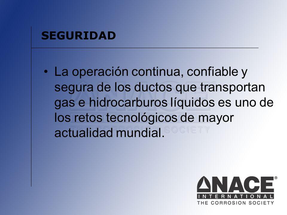 SEGURIDAD La operación continua, confiable y segura de los ductos que transportan gas e hidrocarburos líquidos es uno de los retos tecnológicos de may