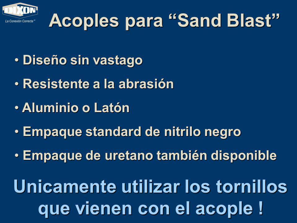 Acoples de Sand Blast Porque sería mala idea asegurar el acople de sand blasteo con tornillos mas largos de los que trae el equipo original.