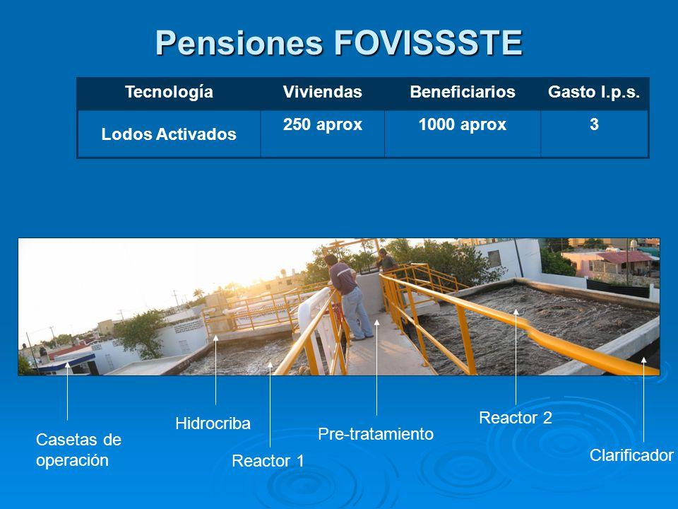 Pensiones FOVISSSTE TecnologíaViviendasBeneficiariosGasto l.p.s.