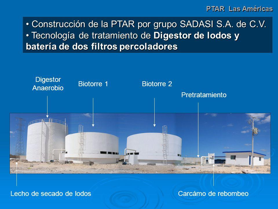 Construcción de la PTAR por grupo SADASI S.A.de C.V.
