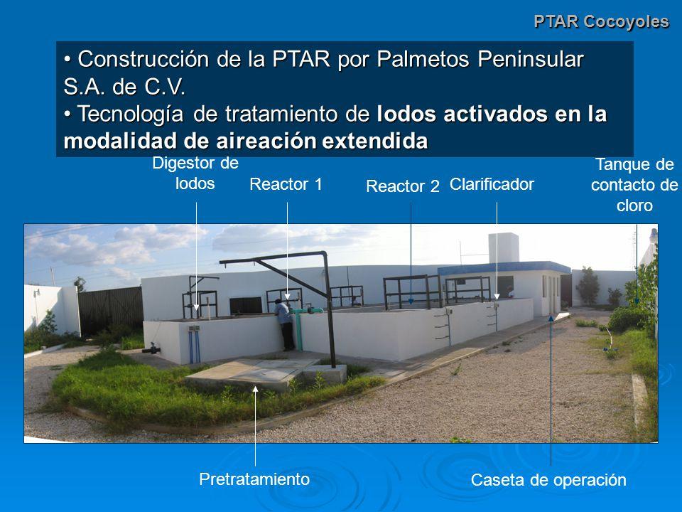PTAR Cocoyoles Construcción de la PTAR por Palmetos Peninsular S.A. de C.V. Construcción de la PTAR por Palmetos Peninsular S.A. de C.V. Tecnología de
