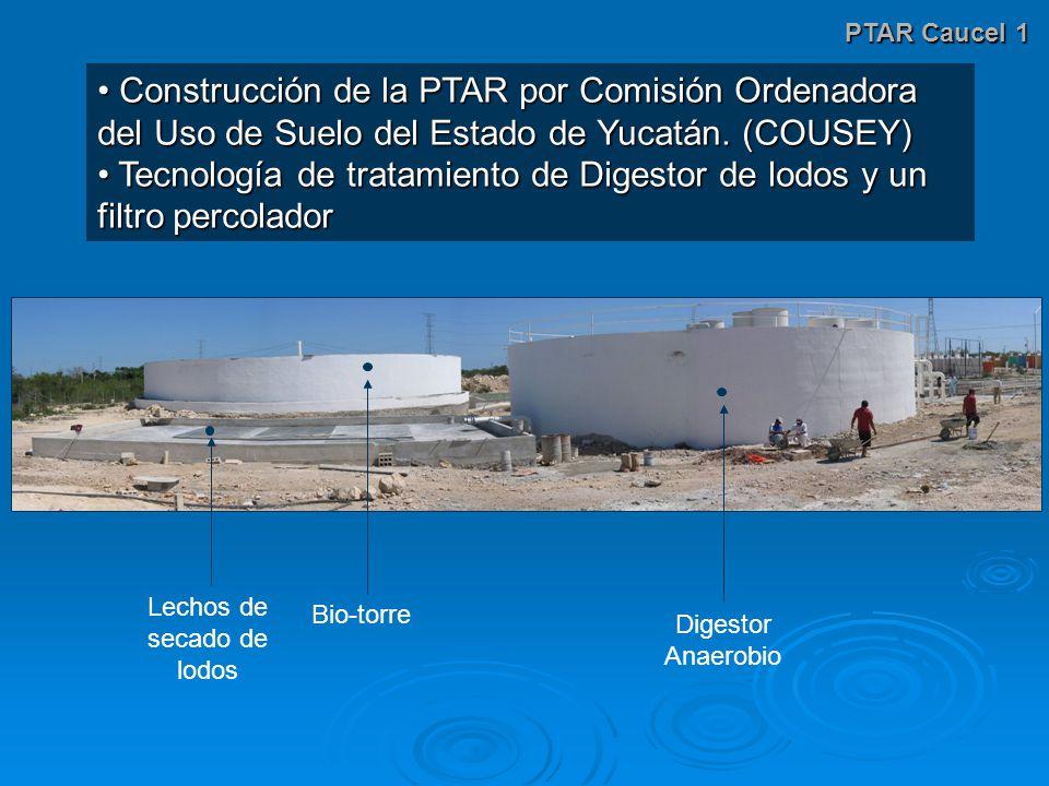 PTAR Caucel 1 Construcción de la PTAR por Comisión Ordenadora del Uso de Suelo del Estado de Yucatán.