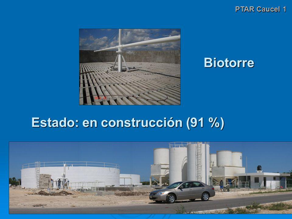 PTAR Caucel 1 Estado: en construcción (91 %) Biotorre