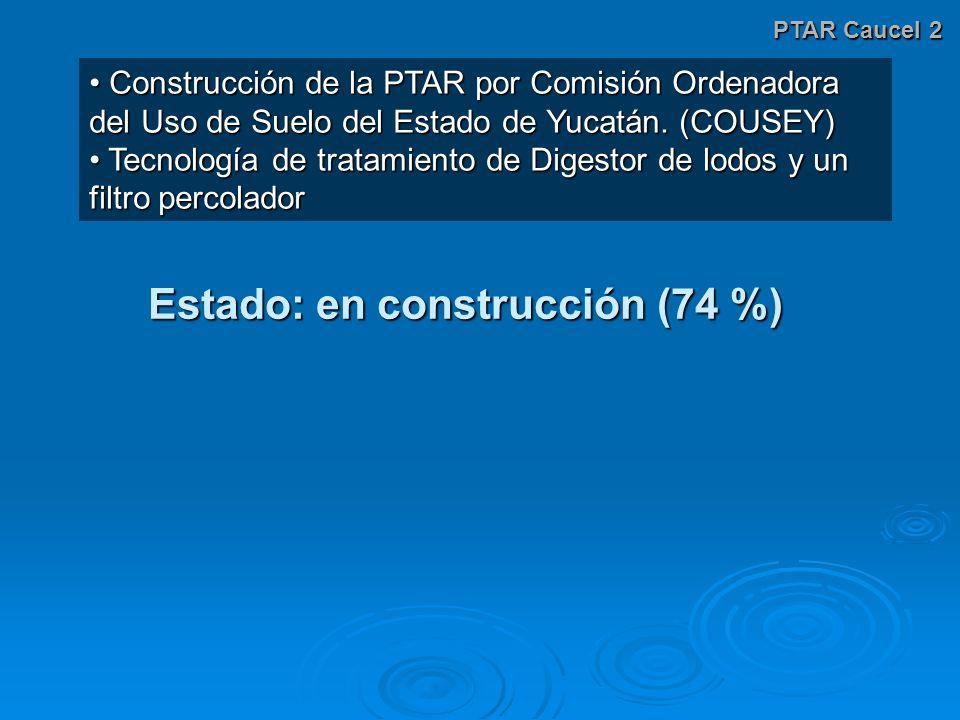 PTAR Caucel 2 Construcción de la PTAR por Comisión Ordenadora del Uso de Suelo del Estado de Yucatán. (COUSEY) Construcción de la PTAR por Comisión Or