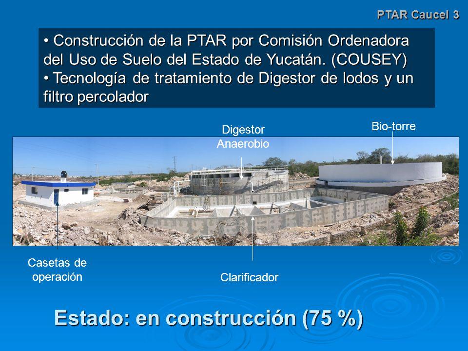 PTAR Caucel 3 Construcción de la PTAR por Comisión Ordenadora del Uso de Suelo del Estado de Yucatán.