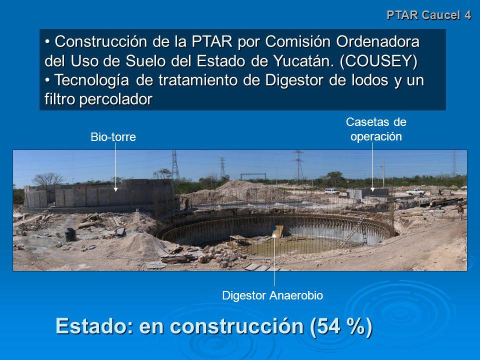 PTAR Caucel 4 Construcción de la PTAR por Comisión Ordenadora del Uso de Suelo del Estado de Yucatán.