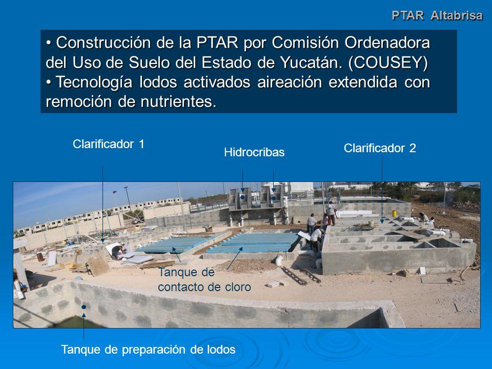 Construcción de la PTAR por Comisión Ordenadora del Uso de Suelo del Estado de Yucatán.