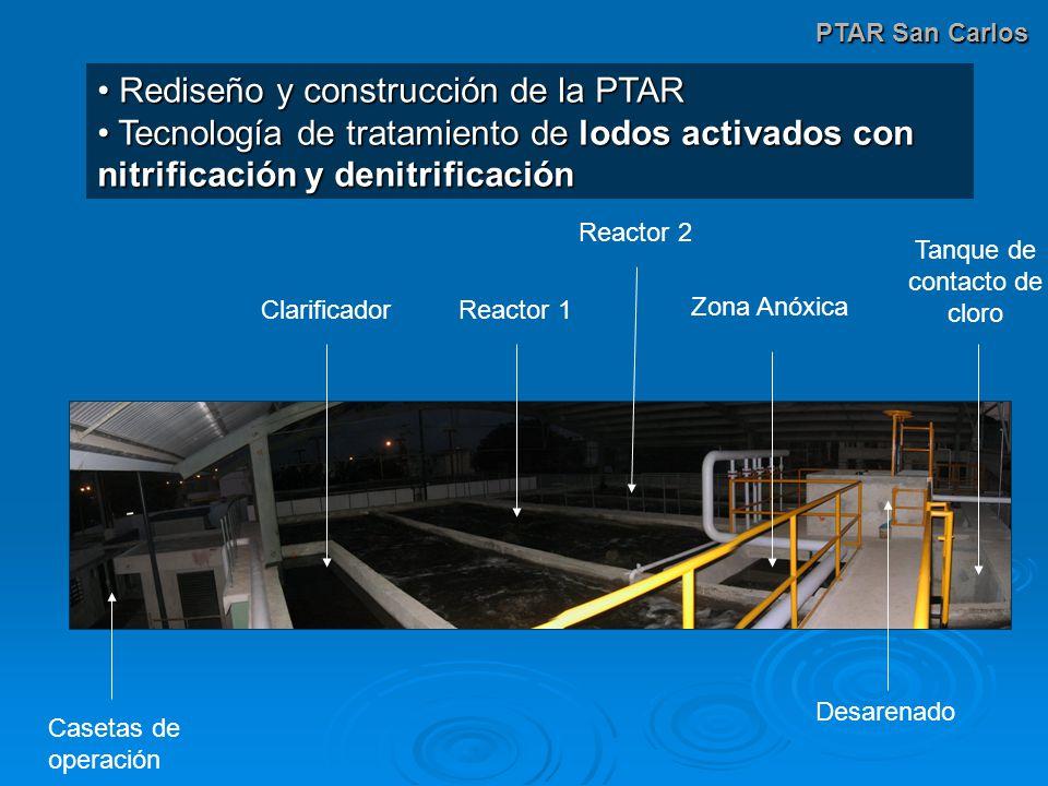 PTAR San Carlos Rediseño y construcción de la PTAR Rediseño y construcción de la PTAR Tecnología de tratamiento de lodos activados con nitrificación y