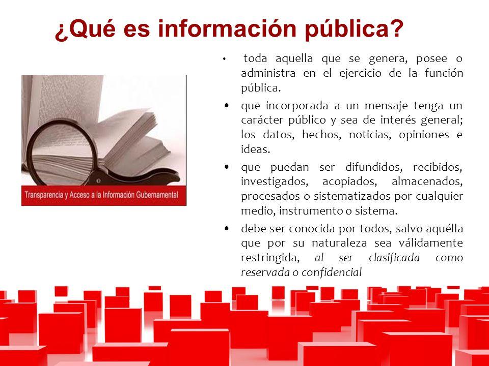 ¿Qué es información pública.