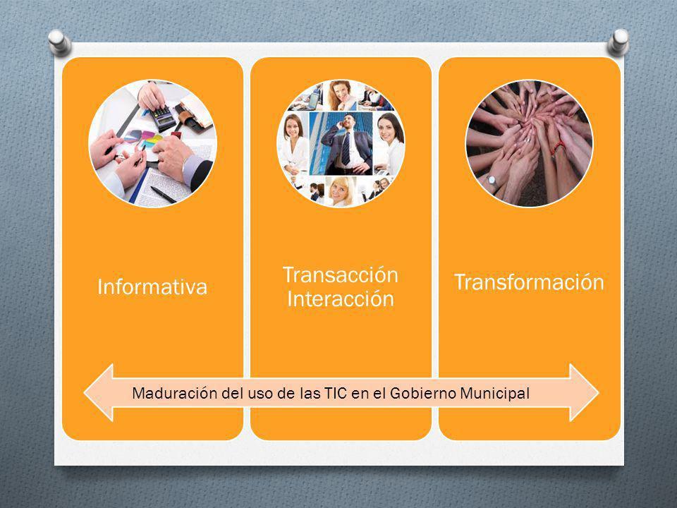 Informativa Transacción Interacción Transformación Maduración del uso de las TIC en el Gobierno Municipal