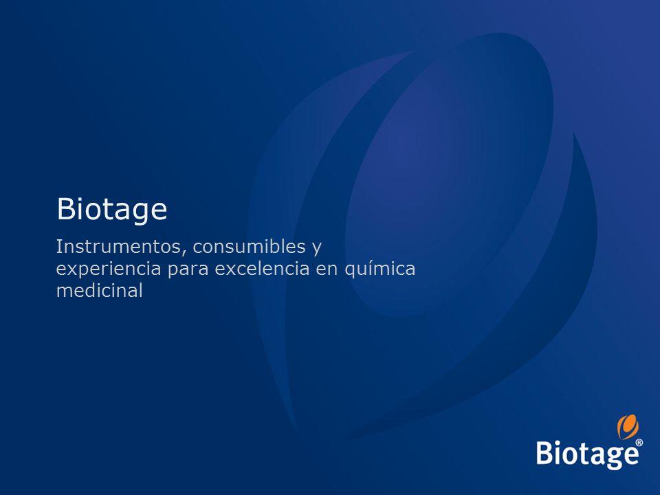 © 2012 Biotage 1 Biotage Instrumentos, consumibles y experiencia para excelencia en química medicinal