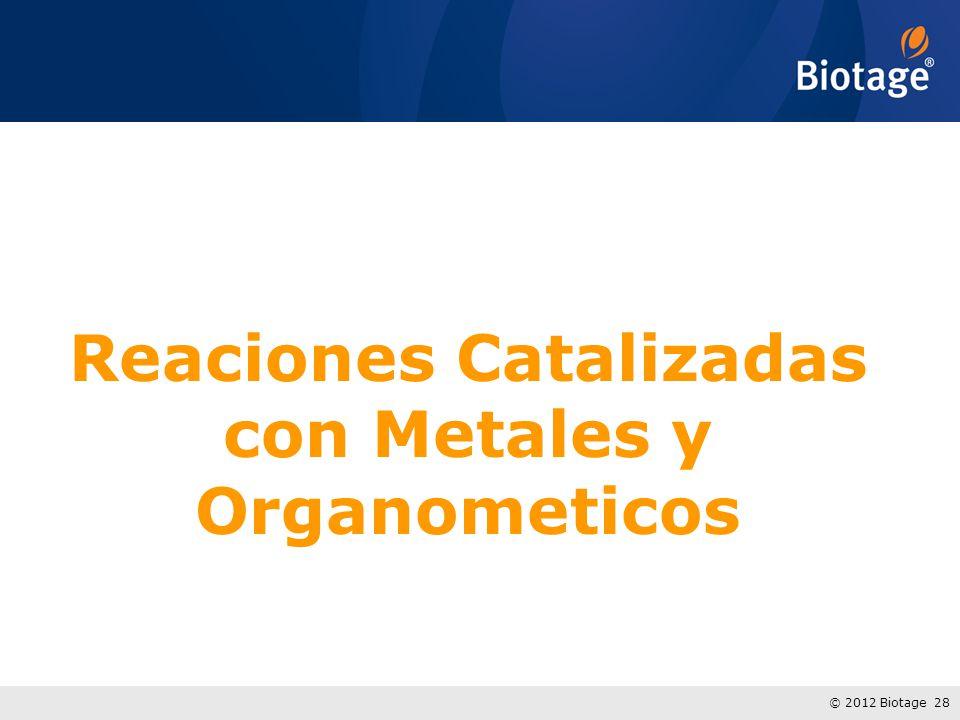 © 2012 Biotage 28 Reaciones Catalizadas con Metales y Organometicos