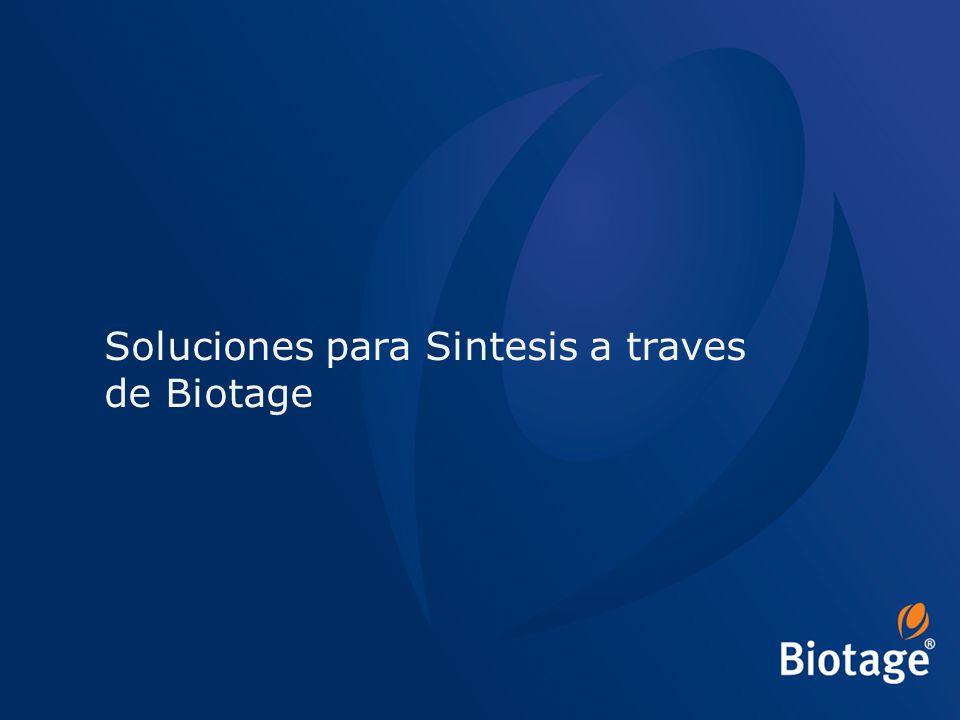 © 2012 Biotage 43 Soluciones para Sintesis a traves de Biotage