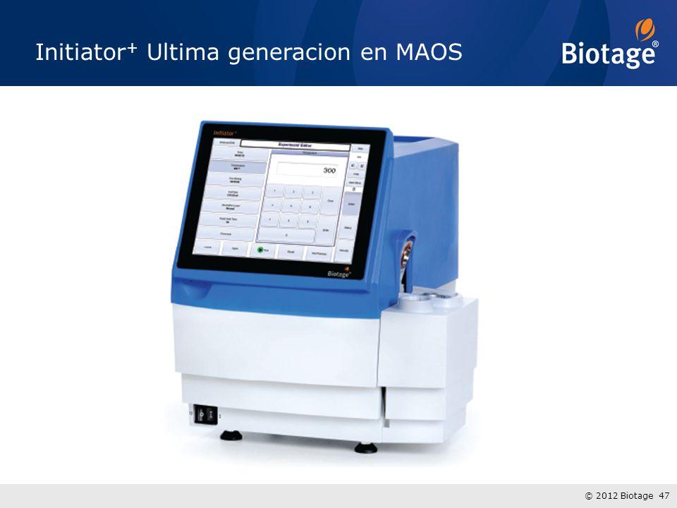 © 2012 Biotage 47 Initiator + Ultima generacion en MAOS