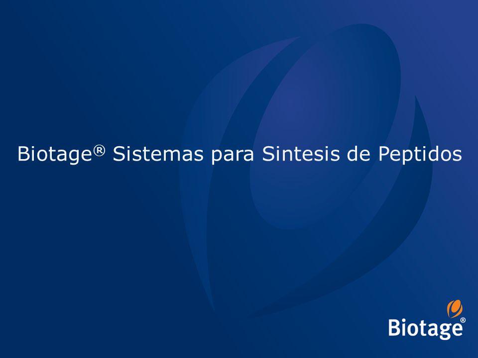© 2012 Biotage 59 Biotage ® Sistemas para Sintesis de Peptidos