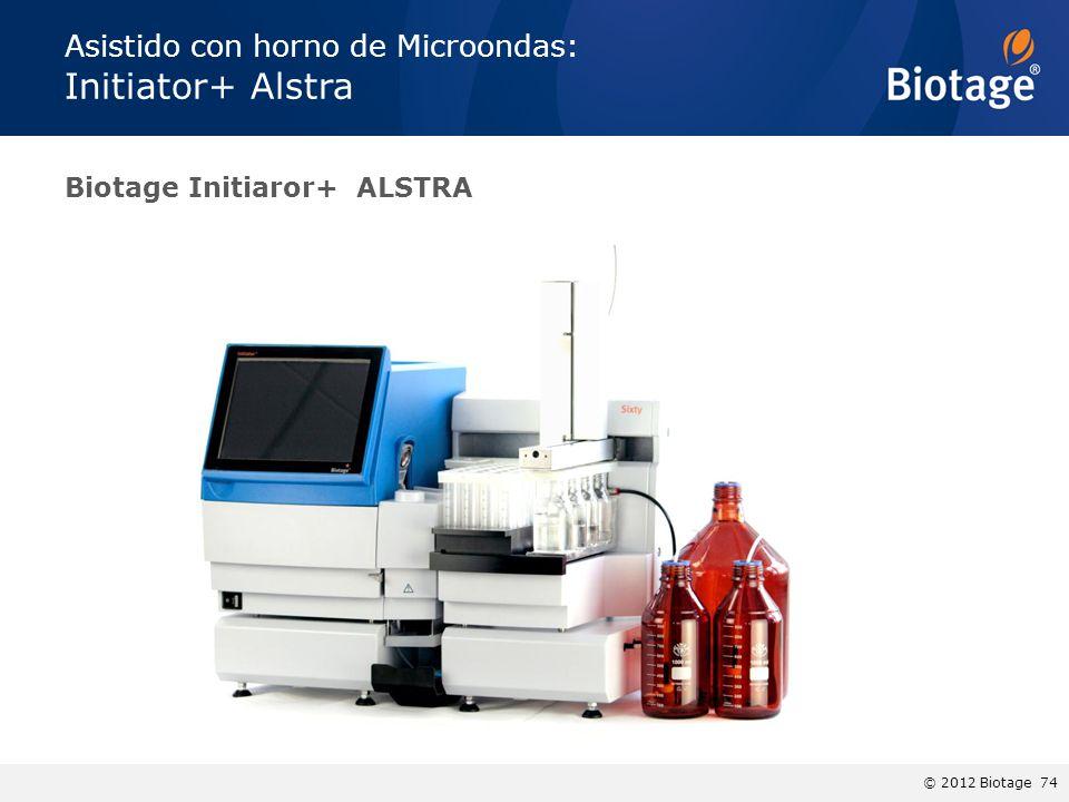 © 2012 Biotage 74 Biotage Initiaror+ ALSTRA Asistido con horno de Microondas: Initiator+ Alstra