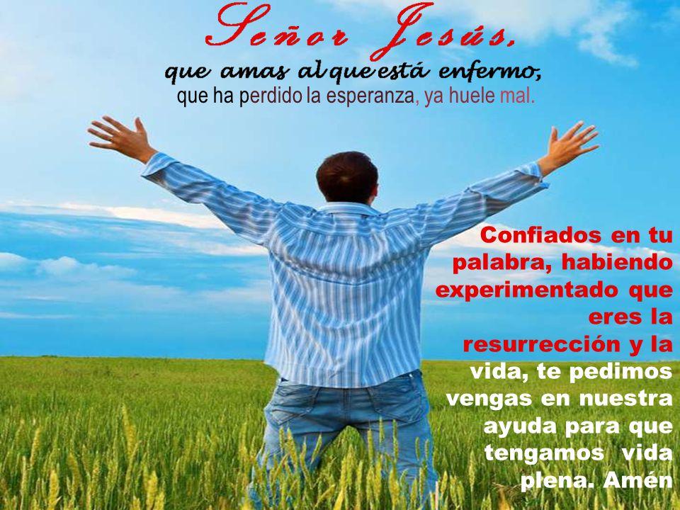 llenas de autoridad, resuenan con esperanza en nuestros días asumimos el compromiso de desatar, de quitar losas, de acrecentar la fe Dar nueva vida Él