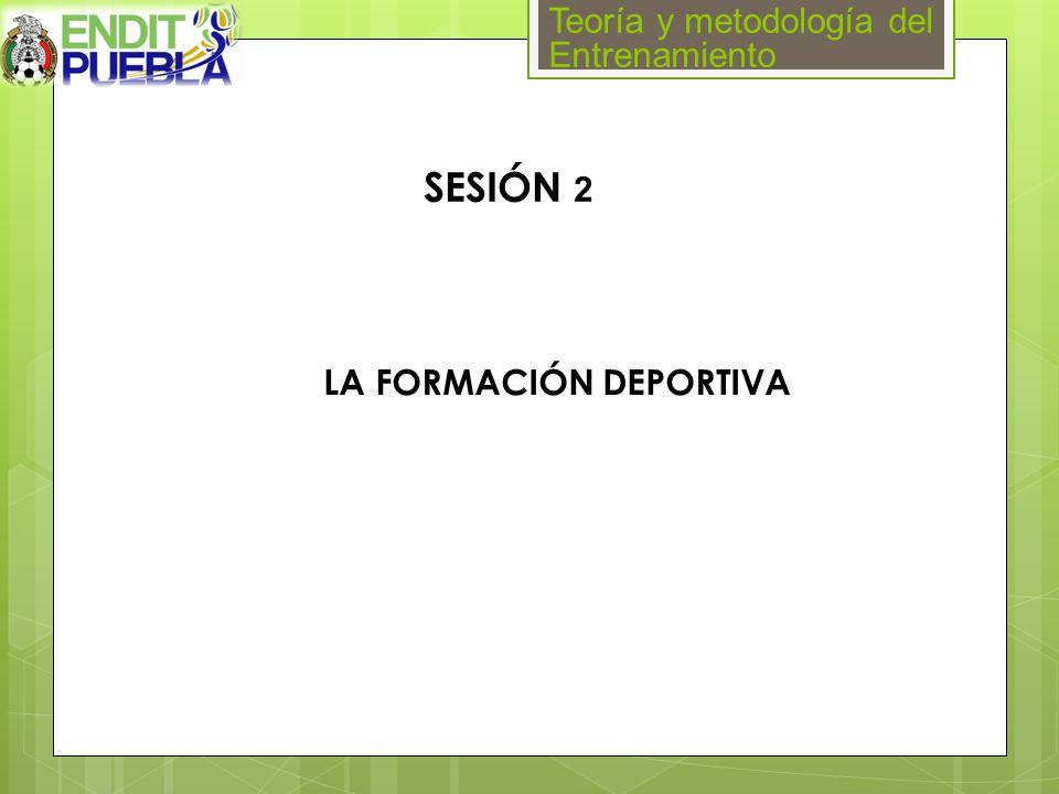 Teoría y metodología del Entrenamiento SESIÓN 2 LA FORMACIÓN DEPORTIVA