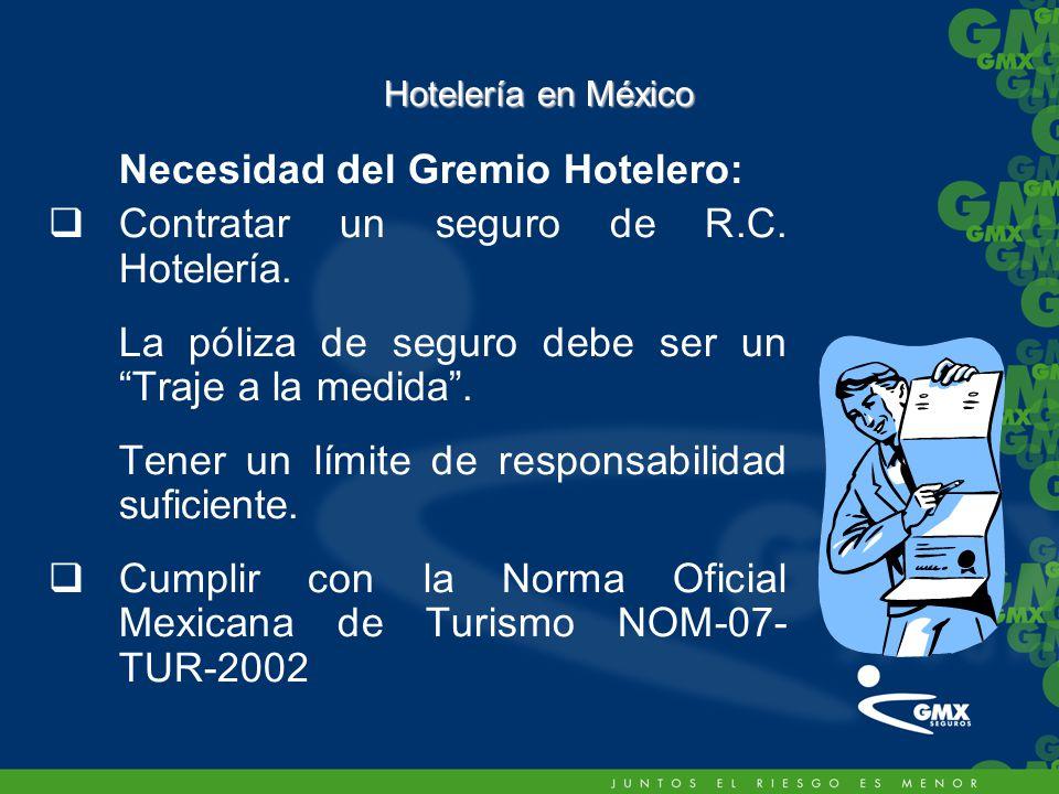 Necesidad del Gremio Hotelero: Contratar un seguro de R.C.