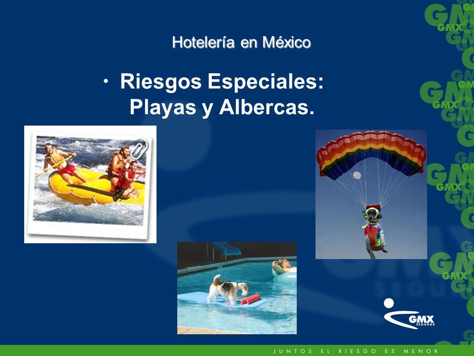 –Riesgos Especiales: Playas y Albercas. Hotelería en México