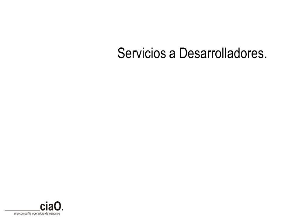 Servicios a Desarrolladores.