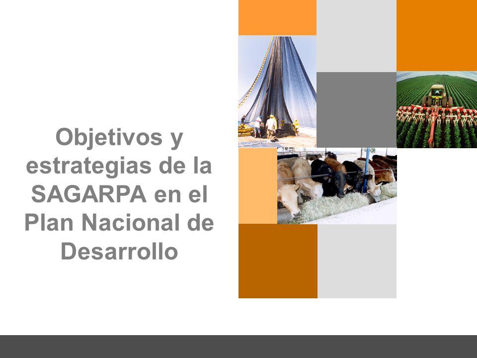 Objetivos y estrategias de la SAGARPA en el Plan Nacional de Desarrollo