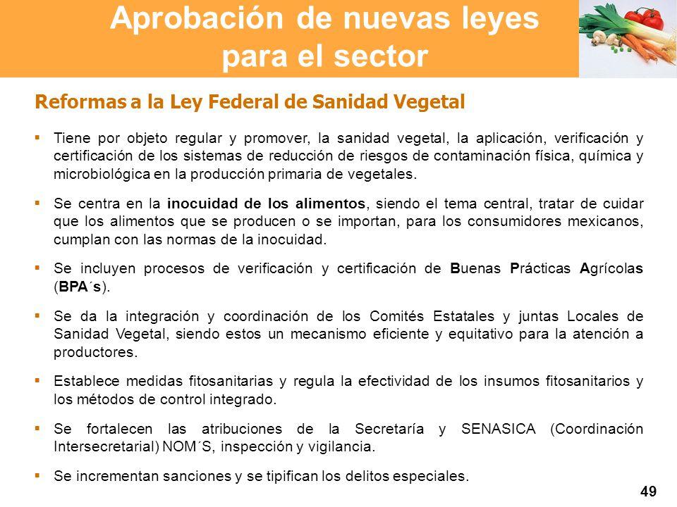 Proyección 2007 Producción Agropecuaria y Pesquera Proyección 2007 Producción Agropecuaria y Pesquera Reformas a la Ley Federal de Sanidad Vegetal Tie