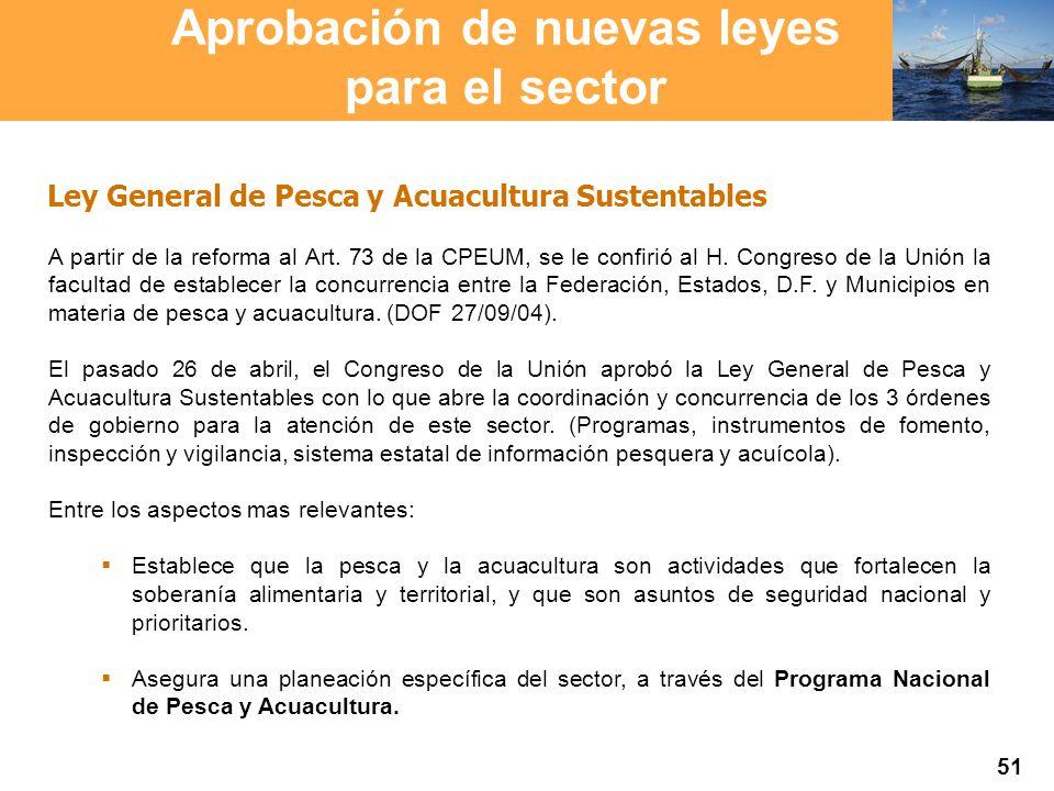 Proyección 2007 Producción Agropecuaria y Pesquera Proyección 2007 Producción Agropecuaria y Pesquera Ley General de Pesca y Acuacultura Sustentables A partir de la reforma al Art.