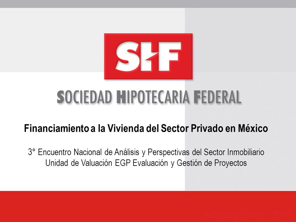Financiamiento a la Vivienda del Sector Privado en México 3° Encuentro Nacional de Análisis y Perspectivas del Sector Inmobiliario Unidad de Valuación