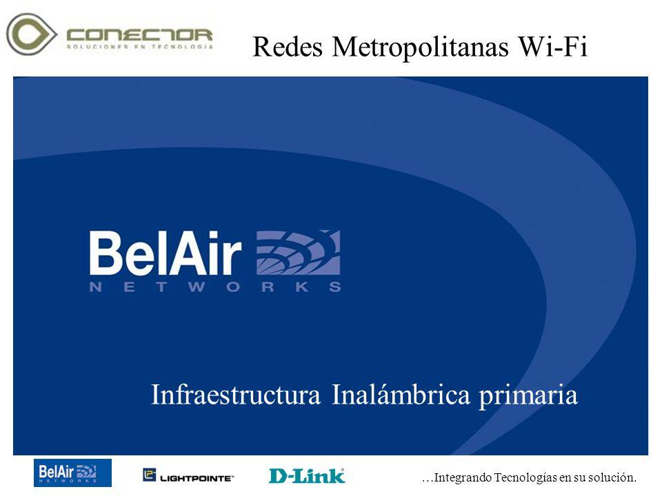 …Integrando Tecnologías en su solución. Copyright 2003-2005 Conector de Tecnología, SA de CV Redes Metropolitanas Wi-Fi Infraestructura Inalámbrica pr