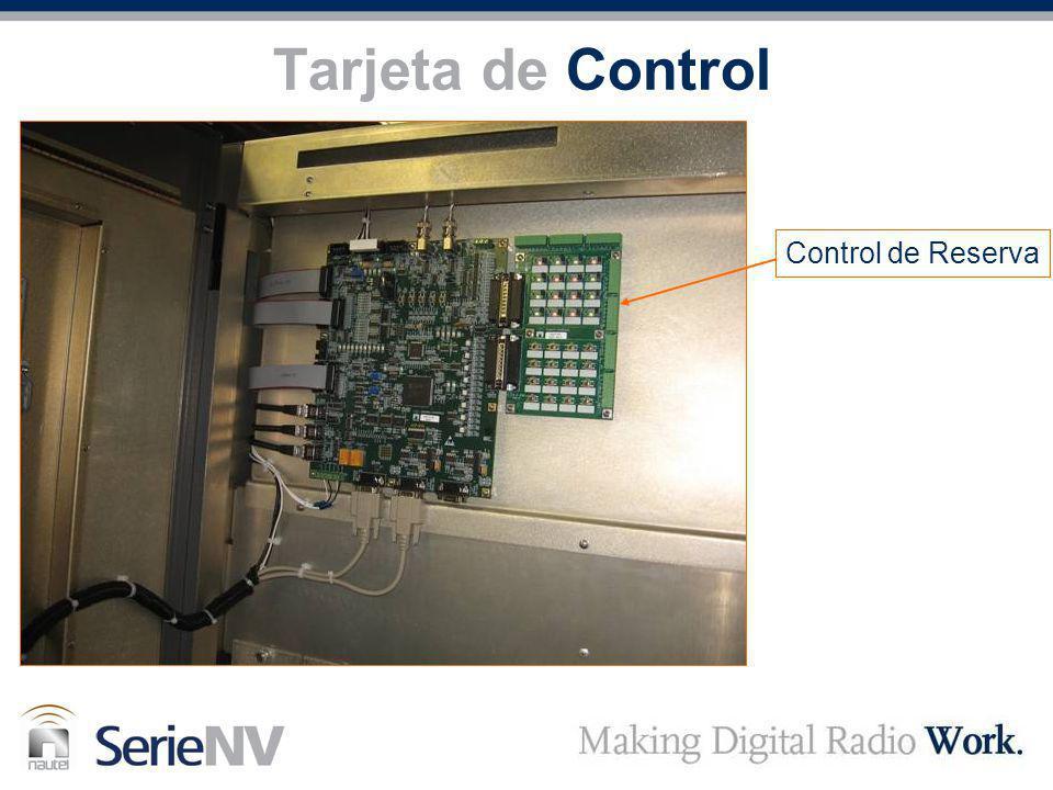 Tarjeta de Control Control de Reserva