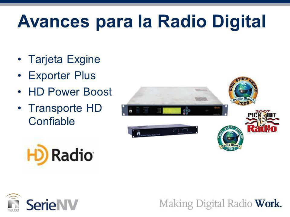 Tarjeta Exgine Exporter Plus HD Power Boost Transporte HD Confiable Avances para la Radio Digital